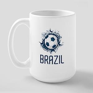 Hip Brazil Football Large Mug