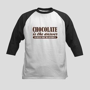 Chocolate Is The Answer Kids Baseball Jersey