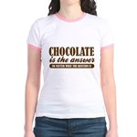 Chocolate Is The Answer Jr. Ringer T-Shirt