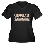 Chocolate Is The Answer Women's Plus Size V-Neck D
