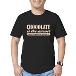 Chocolate Is The Answer Men's Fitted T-Shirt (dark