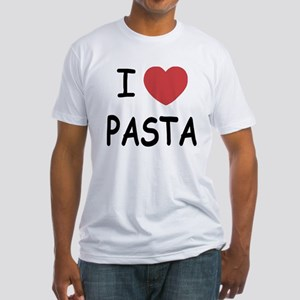 I heart pasta Fitted T-Shirt