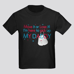 Move it (Daddy's Lil' Man) Kids Dark T-Shirt