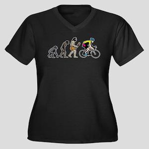 Bike Racer Women's Plus Size V-Neck Dark T-Shirt