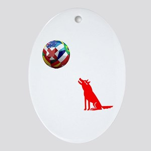 Howling At The Ball! Ornament (Oval)