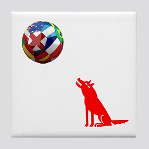 Howling At The Ball! Tile Coaster