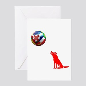 Howling At The Ball! Greeting Card