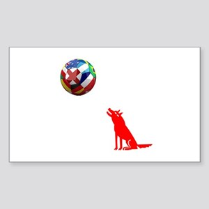 Howling At The Ball! Sticker (Rectangle)