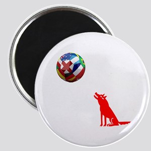 Howling At The Ball! Magnet