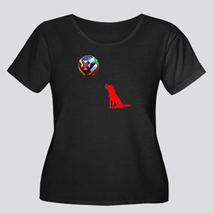 Howling At The Ball! Women's Plus Size Scoop Neck