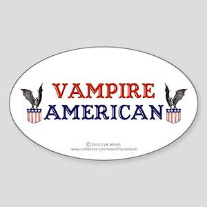 Vampire American Sticker (Oval)