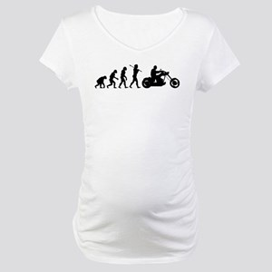 Motorcycle Rider Maternity T-Shirt