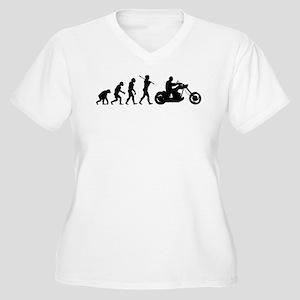 Motorcycle Rider Women's Plus Size V-Neck T-Shirt