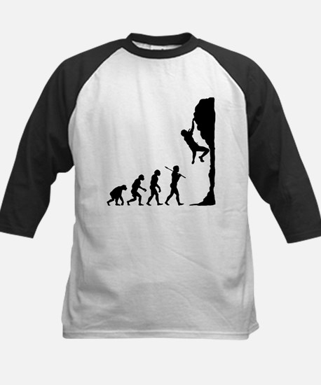 Rock Climbing Kids Baseball Jersey