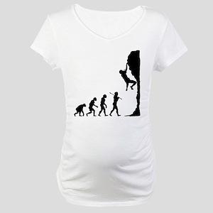 Rock Climbing Maternity T-Shirt