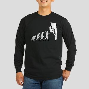 Rock Climbing Long Sleeve Dark T-Shirt