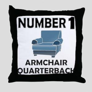 ARMCHAIR QUARTERBACK Throw Pillow