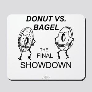 Donut vs. Bagel - Final Showd Mousepad