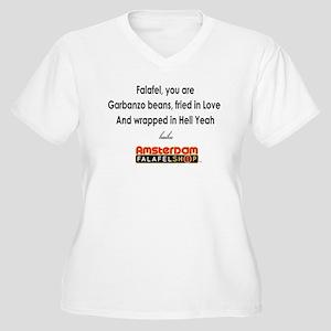 Falafel Haiku Women's Plus Size V-Neck T-Shirt
