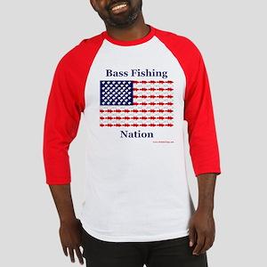 Bass Fishing Nation Baseball Jersey