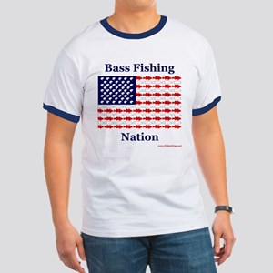 Bass Fishing Nation Ringer T-Shirt