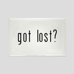 got lost? Rectangle Magnet
