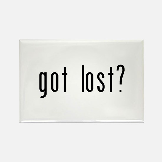 got lost? Rectangle Magnet