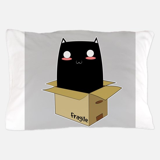 Black Cat in a Box Pillow Case