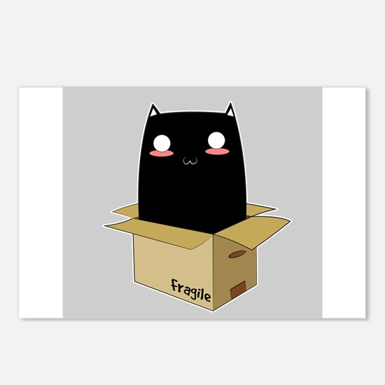 Black Cat in a Box Postcards (Package of 8)