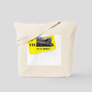 the YELLA BRICK in action Tote Bag