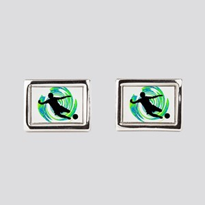 GOALS HAPPENING Rectangular Cufflinks