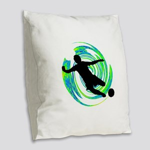 GOALS HAPPENING Burlap Throw Pillow