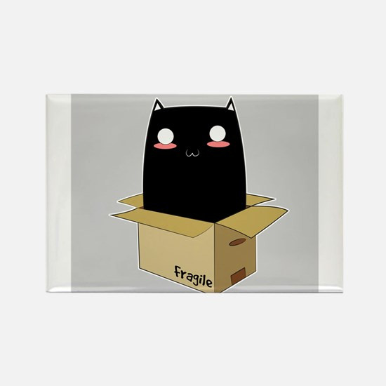 Black Cat in a Box Magnets