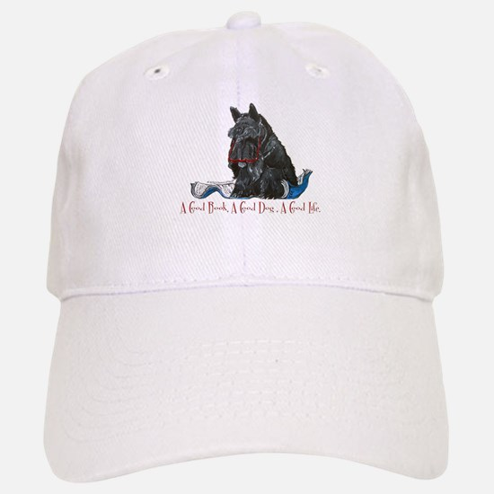 Scottish Terrier Book Baseball Baseball Cap