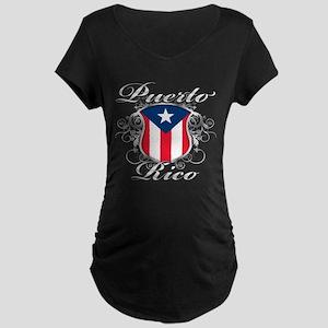 Puerto rican pride Maternity Dark T-Shirt