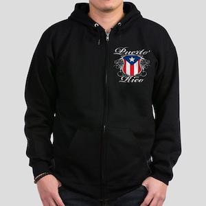Puerto rican pride Zip Hoodie (dark)