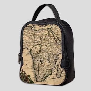 Vintage Map of Africa (1688) Neoprene Lunch Bag