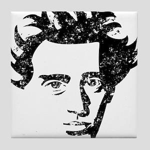 Soren Aabye Kierkegaard Tile Coaster
