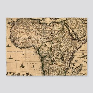 Vintage Map of Africa (1688) 5'x7'Area Rug