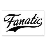 Fanatical Gear (black) Sticker (Rectangle 10 pk)