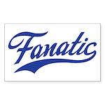 Fanatical Gear (blue) Sticker (Rectangle 10 pk)
