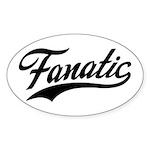 Fanatical Gear (black) Sticker (Oval 10 pk)