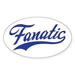 Fanatical Gear (blue) Sticker (Oval 10 pk)