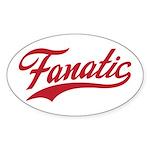 Fanatical Gear (red) Sticker (Oval 10 pk)