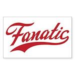 Fanatical Gear (red) Sticker (Rectangle)
