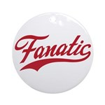 Fanatical Gear (red) Ornament (Round)