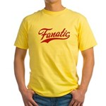 Fanatical Gear (red) Yellow T-Shirt