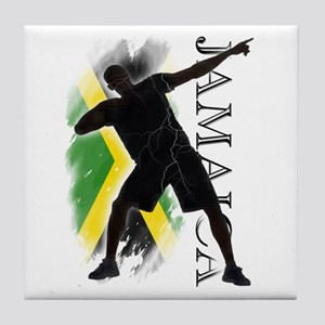 Jamaica - as fast as lightning! - Tile Coaster