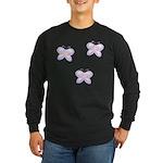 Butterfly Trio Long Sleeve Dark T-Shirt