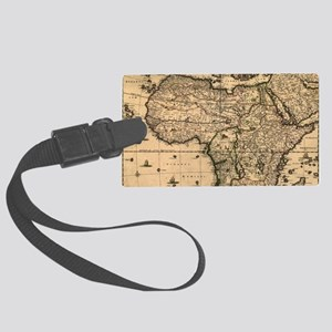 Vintage Map of Africa (1688) Large Luggage Tag